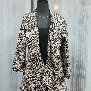 Calvin Klein Leopard Open Cover-Up Jacket